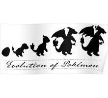 Evolution of Pokémon Poster