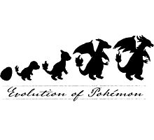 Evolution of Pokémon Photographic Print