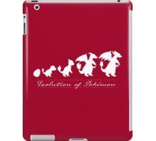 Evolution of Pokémon (white) iPad Case/Skin