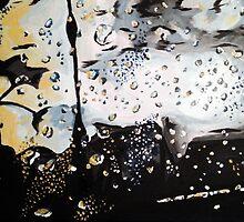 Wet Window on a Stomy Sunset by Adam Berardi