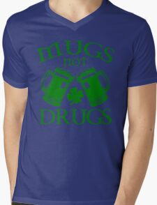 Mugs Not Drugs  Mens V-Neck T-Shirt