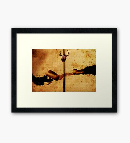 REVELATION OF A PAINFUL TRUTH BY DIVINE INTERVENTION Framed Print