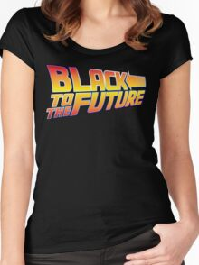 McSuperfly Special (Black to the Future) v2 Women's Fitted Scoop T-Shirt