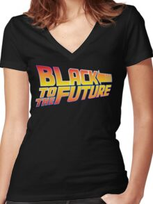 McSuperfly Special (Black to the Future) v2 Women's Fitted V-Neck T-Shirt