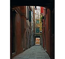 Walkway To Another Canal Photographic Print