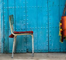 Chair on Blue by eyeshoot