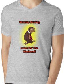 I Hate Mondays Monkey  Mens V-Neck T-Shirt