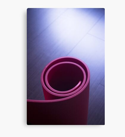 Red fitness yoga and pilates foam gym mats Canvas Print