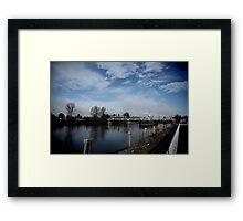 South Skagit Valley Bridge Framed Print