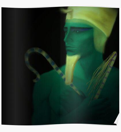 Osiris. Egyptian God of the Dead Poster