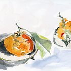 Mandarine and leaves by Gabriele Maurus