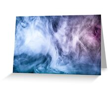 Blue and purple abstract heavenly clouds Greeting Card