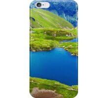 Lake and mountain (Capra Lake in Romania) iPhone Case/Skin