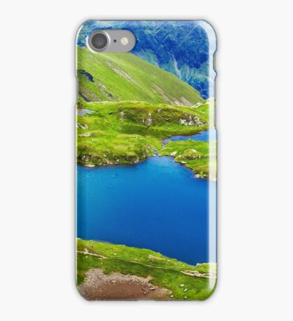 Lake and mountain (Capra Lake in Romania) iPhone Case/Skin