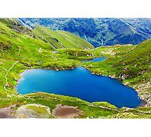 Lake and mountain (Capra Lake in Romania) Photographic Print