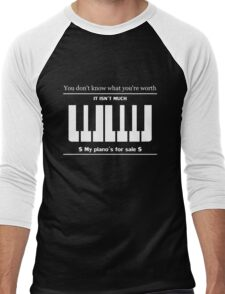 Qotsa I'm Designer piano design Men's Baseball ¾ T-Shirt