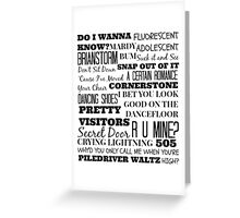 Arctic Monkeys Songs Compilation Greeting Card