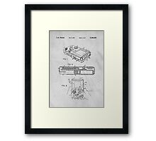 Nintendo Classic Original GameBoy Patent Art Framed Print