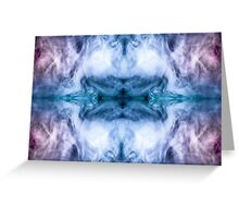 Blue and purple abstract heavenly clouds pattern Greeting Card
