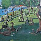 Sunday Afternoon on the Island of La Serpent, after Seurat by SnakeArtist