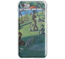 Sunday Afternoon on the Island of La Serpent, after Seurat iPhone Case/Skin