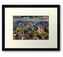 Landscape with Fagaras mountains in Romania Framed Print