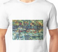 Monet garden reflections Unisex T-Shirt