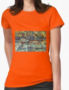 Monet garden reflections Womens Fitted T-Shirt