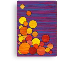 Accumulation, abstract colored pencil Canvas Print