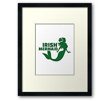 Irish mermaid Framed Print