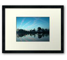 Sunrise over river Framed Print