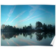 Sunrise over river Poster