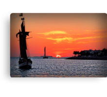 Keywest Sunset Canvas Print