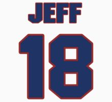 National Hockey player Jeff Daniels jersey 18 by imsport