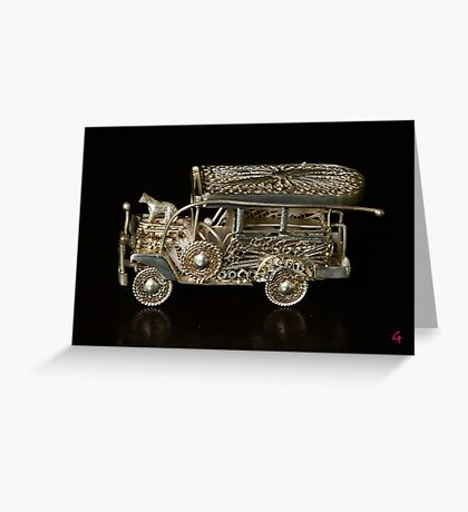 Philippines Jeepney Greeting Card