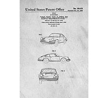 Classic Porsche Sports Car Original Patent Photographic Print