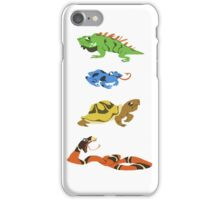 Reptile party!  iPhone Case/Skin