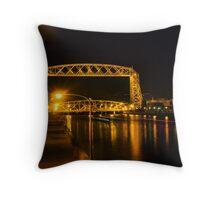 Duluth Aerial Lift Bridge at Night Throw Pillow