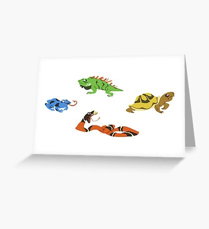 Reptile party!  Greeting Card