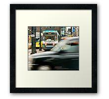 Rush Hour, Manchester Framed Print