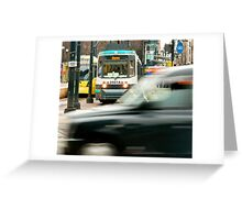 Rush Hour, Manchester Greeting Card