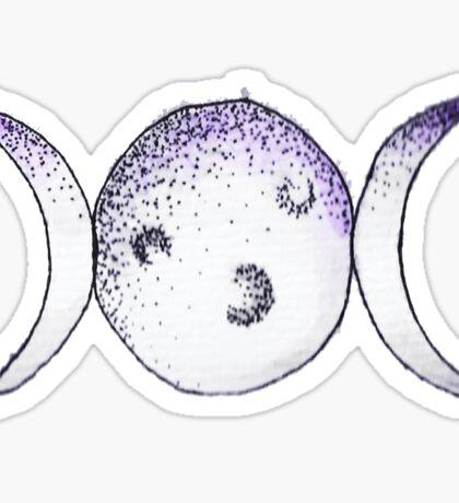 Triple Moon Sticker
