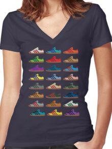 Kicks 2 Women's Fitted V-Neck T-Shirt