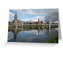 River Ness Reflections Greeting Card