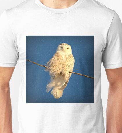 Guardian Angel (snowing) Unisex T-Shirt