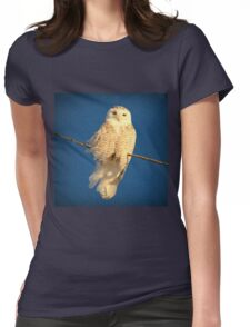 Guardian Angel (snowing) Womens Fitted T-Shirt