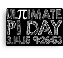 Ultimate Pi Day Chalk Style 2015 Canvas Print