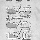 Golf Club Pattern Original Patent Art by Edward Fielding