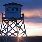 Berwyn water tower at sunrise by Tamara Brandy