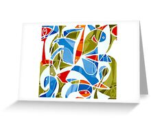 Parade (Blue, Red, Green) Greeting Card